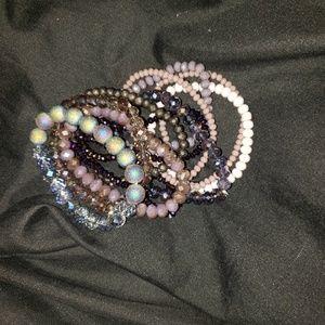 Set of 11 bracelets